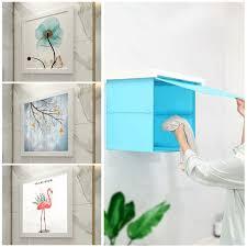 moderne badezimmer klapp schrank bad dusche kleidung lagerung regal wasserdichte wandbild punch freies organizer box