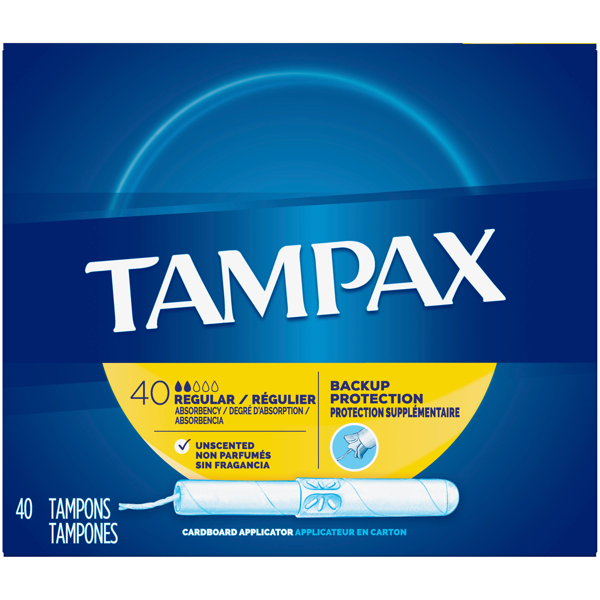 Tampax Regular Absorbency Tampons - 40 Pack