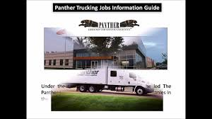 100 Panther Trucking Company Jobs