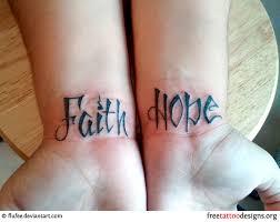 Love Wrist Tattoo Faith And Hope