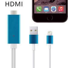 Hight Speed MHL Aluminum 2M 8 Pin to HDMI Cable HDTV AV 1080P USB
