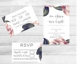 Botanical Wedding Invitations Invitation Set Suite Invite Rustic