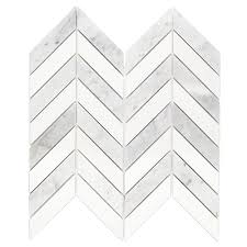 Smart Tiles Mosaik Multi by Splashback Tile Dart White Carrara And Thassos Marble Mosaic Tile