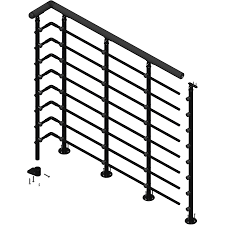 Shop DOLLE Oslo 3.5-ft Black Powder Coated Painted Steel Stair ... Decorating Best Way To Make Your Stairs Safety With Lowes Stair Spiral Staircase Kits Lowes 3 Staircase Ideas Design Railing Railings For Steps Wrought Shop Interior Parts At Lowescom Modern Remodel Spindles Cozy Picture Of Home And Decoration Outdoor Pvc Deck Buy Decorations Banister Indoor Kits Awesome 88 Wooden Designs