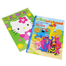 Licensed Coloring And Activity Books With Stickers