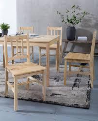 finebuy esszimmer set emilio 7 teilig kiefer holz landhaus stil 120 x 73 x 70 cm natur essgruppe 1 tisch 6 stühle tischgruppe esstischset 6