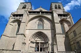 abbaye de la chaise dieu abbatiale de la chaise dieu façade gothique picture of l abbaye