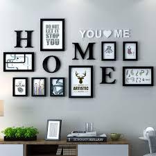 dekorrahmen fotorahmen sets wohnzimmer fotowand mit einer