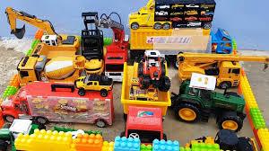 100 Dump Truck Video For Kids Garage For Toy Cars Parking Excavator Truck Transporter