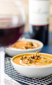Pumpkin Bisque Recipe Vegan by Vegan Pumpkin Soup With Candied Cashews The Cookie Rookie
