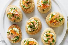 healthy canapes recipes 50 and easy canapes smoked salmon and pea vol au vents