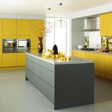 Matt Grey And Yellow Kitchen From Jewson