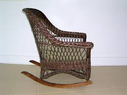 Heywood Wakefield Chairs Antique by A Mid Century Modern Heywood Wakefield Wicker Rocking Chair In