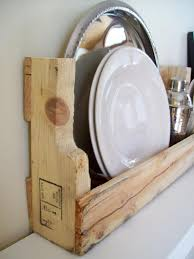 Repurposed Pallet Wood Shelves For Kitchen