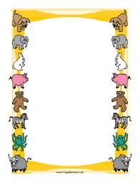Frame Design With Farm Animals Illustration Vectors