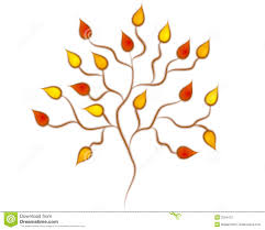 Autumn Oak Tree Leaves Clipart Royalty Free Stock Image