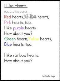 Joyful Learning In KC Color Stamping Book I Like Hearts Poem Colors