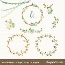 Rustic Clipart Wedding Floral 7