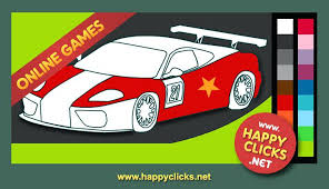 Full Image For Coloring Pages Online Adults Printable Racing Car Color Games