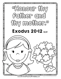 Honour Thy Mother Bible Verse Coloring Page