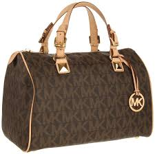 michael kors grayson large logo satchel womens handbag http