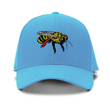 honey bee embroidery embroidered adjustable hat baseball cap ebay