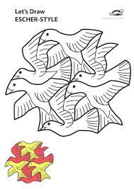 Printables For Kids Escher ArtSchool Art ProjectsPuzzle