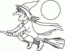 Download Coloring Pages Halloween Witch Sheet Booksforkids Free Book