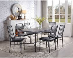 Overstock Furniture Devar Table & 6 Chairs - Standard Height ... Details About Set Of 5 Pcs Ding Table 4 Chairs Fniture Metal Glass Kitchen Room Breakfast 315 X 63 Rectangular Silver Indoor Outdoor 6 Stack By Flash Tarvola Black A 16 Liam 1 Tephra Alba Square Clear With Ashley 3025 60 Metalwood Hub Emsimply Bara 16m Walnut Signature Design By Besteneer With Magnificent And Ding Table Glass Overstock Alex Grey Counter Height