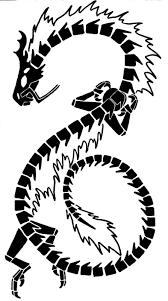 Chinese Dragon Tribal Tattoo