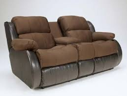 Levon Charcoal Sofa And Loveseat by Espresso Double Reclining Loveseat W Console Signature Design By