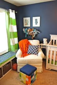 Navy And White Striped Curtains Target by William U0027s Whimsical Blue Orange And Green Nursery Green Fabric