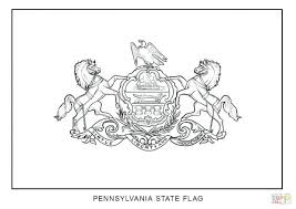 Pennsylvania Flag Coloring Pages Pa Page Click State Bird