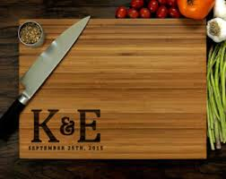 Personalized Cutting Board 12 X 16 Inches Custom Wedding Gift Initial Monogram