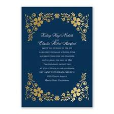 Blue Wedding Invitations Brilliant Boho Foil Invitation