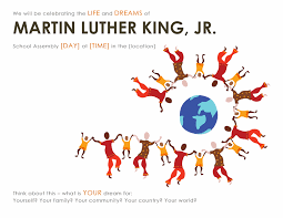Martin Luther King Day School Assembly Poster