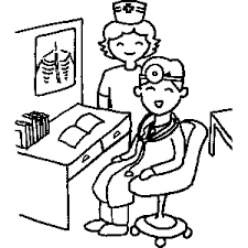 Doctor And Nurse Coloring Sheet