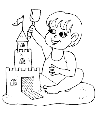 Beach Coloring Pages 9835