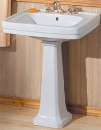 Replacing A Faucet On A Pedestal Sink by Pedestal Sinks Buying And Installing A Bathroom Pedestal Sink