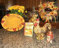 Kitchen Island Decorated For Fall Traditional
