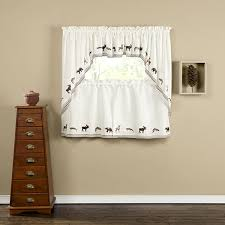 Boscovs Window Curtains by Lodge Embroidered Wildlife Tier Curtain Boscov U0027s