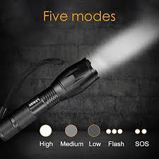 achat linkax torche le de poche led ultra puissante 800lm