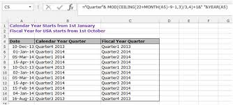 Ceiling Function Excel 2007 by How To Calculate The Quarter In Microsoft Excel Microsoft Excel