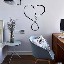 großhandel liebe unendlichkeit herz wandtattoo schriftzug worte removable vinyl zitat dekor aufkleber schlafzimmer wohnzimmer kunst diy