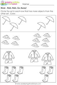 More And Less Worksheets