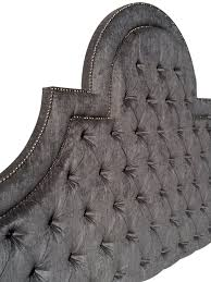 Velvet Headboard King Size by King Size Upholstered Headboard With Nails Gray Velvet Extra Tall