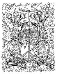 Free Coloring Page Adult Animals Big Frog A
