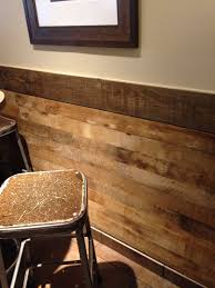 Two Tone Walls No Chair Rail by Loving This Reclaimed Wood Chair Rail Rustic And Modern All In