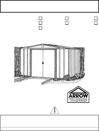 Arrow Shed Door Assembly by Arrow Np10867 Instructions Assembly