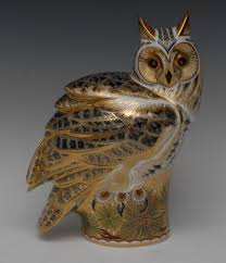 A Large Royal Crown Derby Prestige Edition Paperweight, Long Eared ... Winter Owl Paperweight Royal Crown Derby Collection Rspb Shop A Large Prestige Edition Paperweight Long Eared The Barn Gift 91papbox62729_07jpg Lot 250 Printed Mark Colctables Exclusive Collections Robin Happy Birthday Bear A Beswick Owl 1046 2 Porcelachina Pottery Porcelain Glass